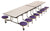 AmTab MST1216 Rectangle Mobile Cafeteria Table with DynaRock Edge 16 Stools and Chrome Frame 12 Feet - Quick Ship