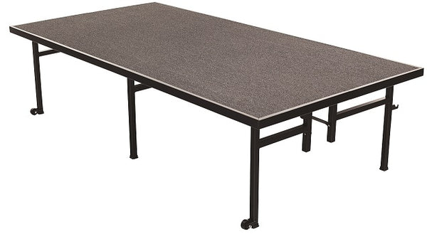 AmTab ST4816C Carpeted Mobile Fixed Height Stage 4 x 8 x 16 - Quick Ship