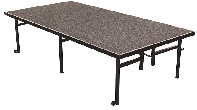 AmTab ST4824C Carpeted Mobile Fixed Height Stage 4 x 8 x 24 - Quick Ship