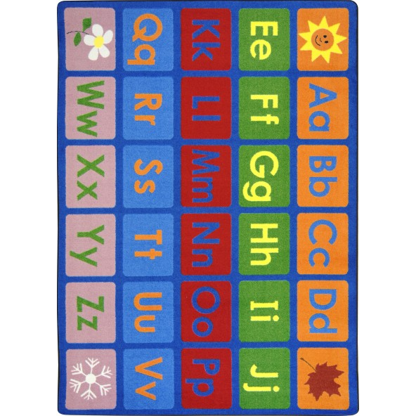 Joy Carpets 1710 Any Day Alphabet - Rectangle
