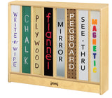 Jonti-Craft 0292JC Low Mobile Fold-n-Lock Storage - Back Options