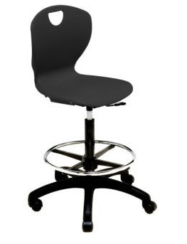 "Scholar Craft SC310L Ovation Adjustable Height Task Chair with Foot Ring 15"" - 20"" - Quick Ship"