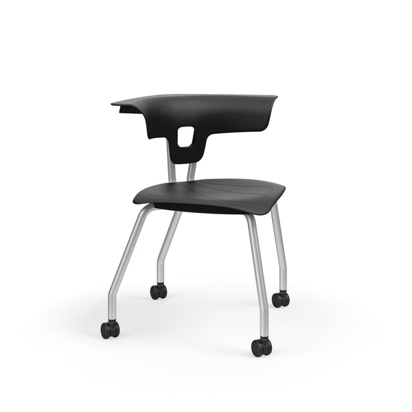 "KI RK2100H15NB Ruckus Plastic Chair with Casters 15"" Seat Height - Free Shipping"