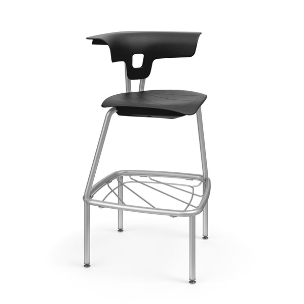 "KI RK4100H30BR Ruckus Plastic Stack Stool with Book Rack 30"" Seat Height - Free Shipping"