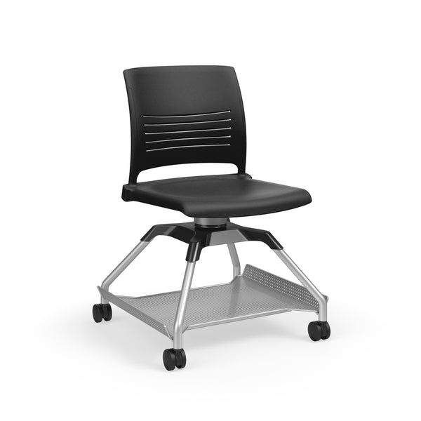 KI Learn2 L2SNP/NA/FBR Strive Mobile Chair with Flat Accessory Rack - Free Shipping