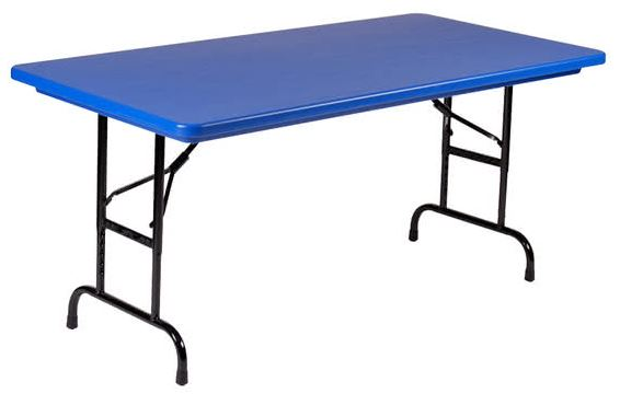 Correll R2448-27 Heavy Duty Fixed Height Blow-Molded Folding Table 24 x 48
