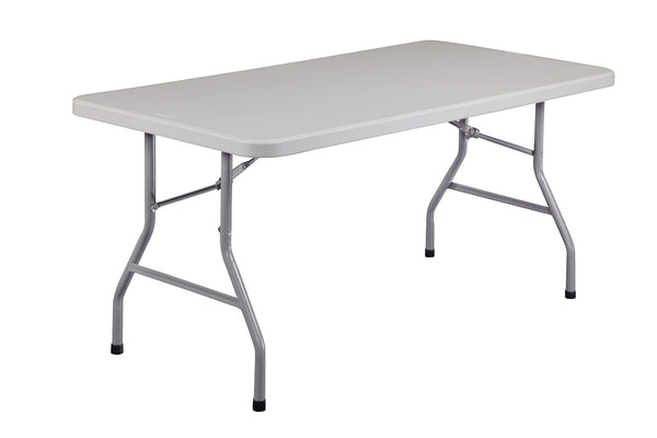 National Public Seating BT-3060 Blow Molded Rectangle Folding Table 30 x 60 - Quick Ship