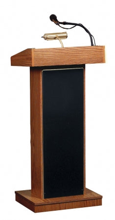 Medium Oak - Oklahoma Sound Orator Floor Lectern