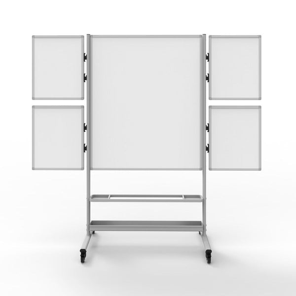 Luxor COLLAB-STATION Collaboration Station – Mobile Whiteboard with Four Attachable Markerboards