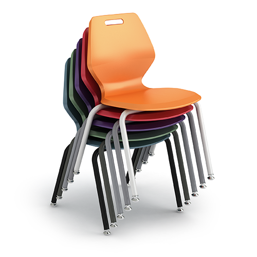 "Paragon AND-READY-4L16 A&D Ready 4-Leg Classroom Chair with Glides 16"" Seat Height"