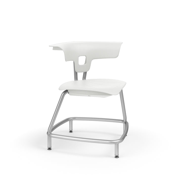 "KI RKU100H15NB Ruckus Plastic Stack Chair without Book Rack 15"" Seat Height"