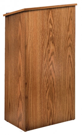Medium Oak- Oklahoma Sound 222-MO Full Floor Lectern