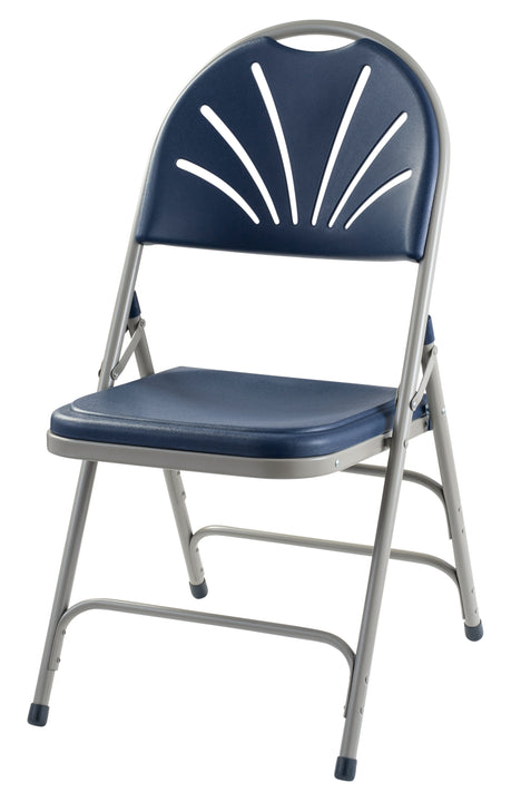 National Public Seating 1100 Series Polyfold Fan Back Folding Chair - Pack of 4