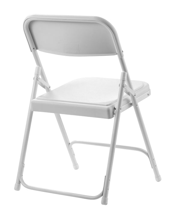 National Public Seating 800 Series Blow Molded Plastic Premium Folding Chair - Pack of 4