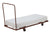 National Public Seating DY-3096 Flat Stacking Rectangle Folding Table Truck - Quick Ship