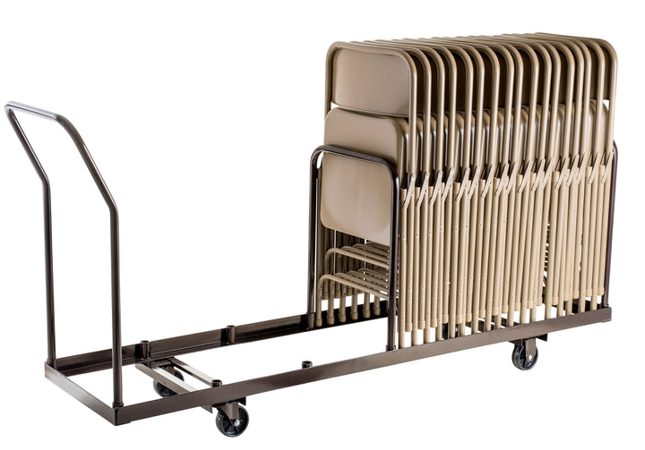 National Public Seating DY-35 Vertical Folding Chair Dolly 35 Chair Capacity - Quick Ship