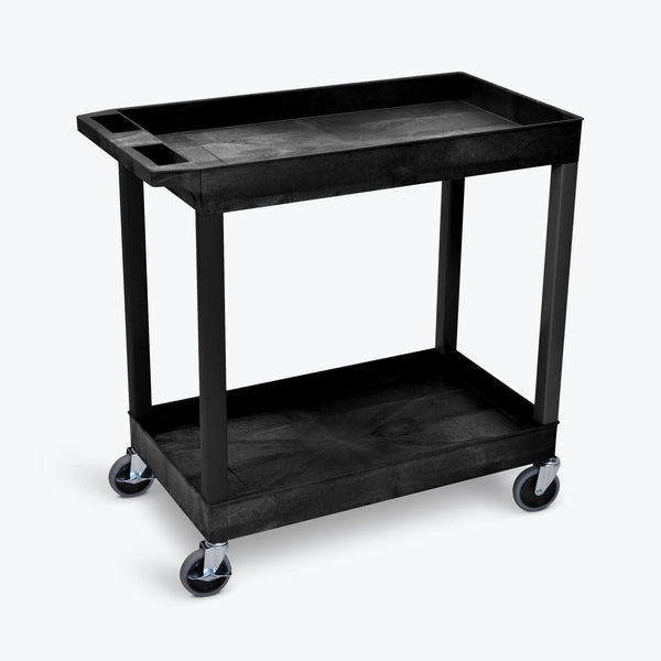Luxor EC11-B Two Shelf Utility Cart 32 x 18