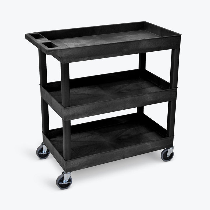 Luxor EC111-B Three Shelf Utility Cart 32 x 18