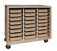 Hann SC-4824 Mobile Tote Tray Storage Cabinet - 24 Trays