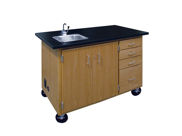 Hann MBC-3054C Mobile Demonstration Station with Sink and Drawers
