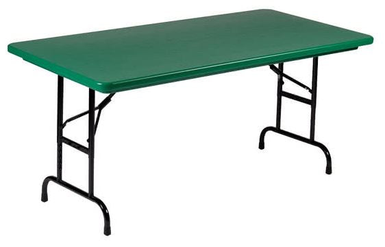 Correll R2448-29 Heavy Duty Fixed Height Blow-Molded Folding Table 24 x 48