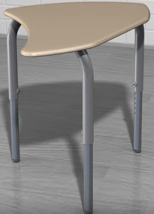 Scholar Craft SC6200SP Intersect Collaborative Adjustable Height Desk with Writable Surface