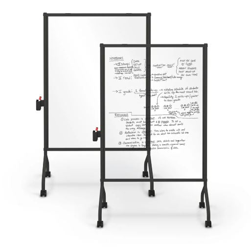 MooreCo 62543-CLEAR Essentials Clear Mobile Whiteboard