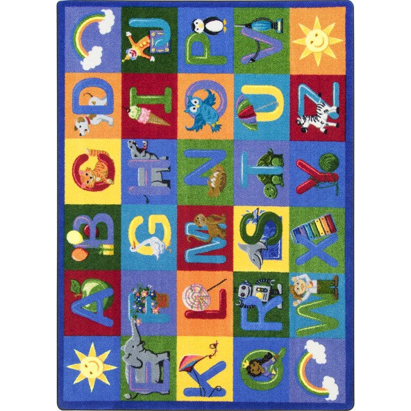 Joy Carpets 1926 Learning Letter Sounds - Rectangle