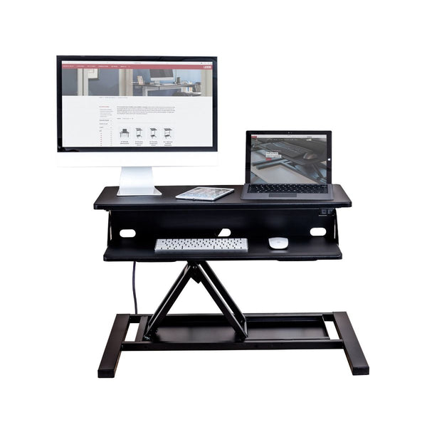 Luxor LVLUP EPRO32-BK Electric Level Up Pro 32 Standing Desk Converter