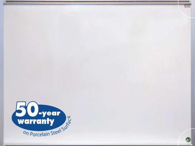 Marsh PR416-1460-6100 Porcelain Steel Magnetic Markerboard with Aluminum Frame 4 x 16