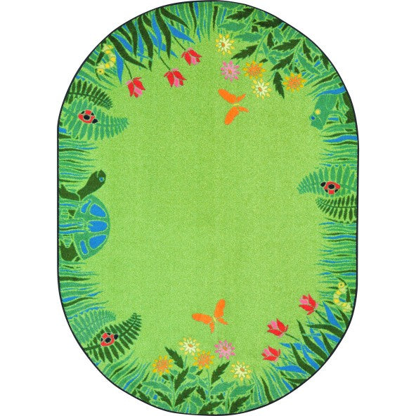 Joy Carpets 1961 Merry Meadows Area Rug - Oval