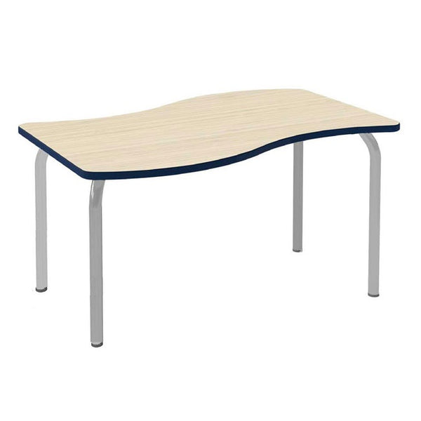 Scholar Craft FS949UND Method Series Adjustable Height Undulate Collaborative Table - Quick Ship