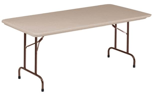 Correll R3072-24 Heavy Duty Fixed Height Blow-Molded Folding Table 30 x 72