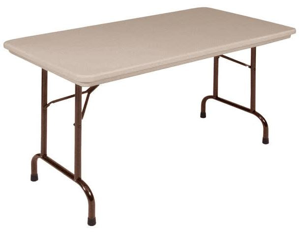 Correll R2448-24 Heavy Duty Fixed Height Blow-Molded Folding Table 24 x 48