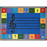 Joy Carpets 1462 Note Worthy Music Area Rug - Rectangle