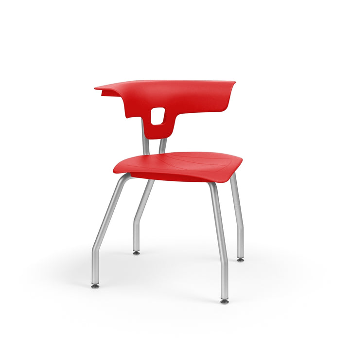 "KI RK1100H15NB Ruckus Plastic Chair without Book Rack 15"" Seat Height"