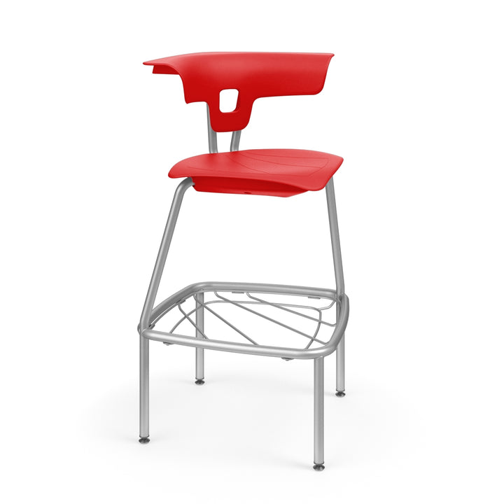 "KI RK4100H24BR Ruckus Plastic Stack Stool with Book Rack 24"" Seat Height"