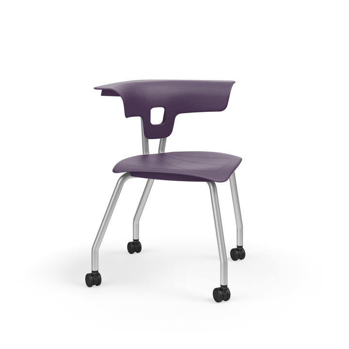 "KI RK2100H15NB Ruckus Plastic Chair with Casters 15"" Seat Height"