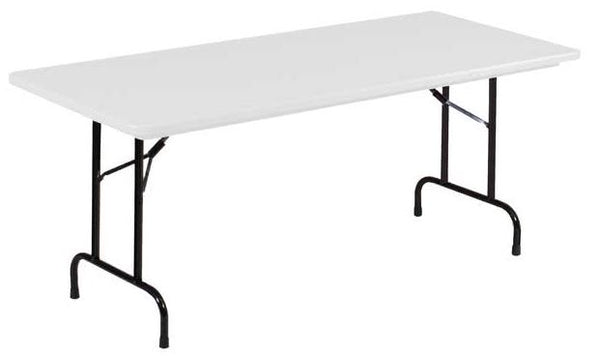 Correll R3072 Heavy Duty Fixed Height Blow-Molded Folding Table 30 x 72
