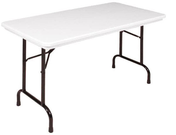 Correll R2448 Heavy Duty Fixed Height Blow-Molded Folding Table 24 x 48