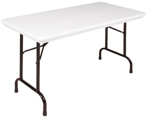 Correll R2448-23 Heavy Duty Fixed Height Blow-Molded Folding Table 24 x 48