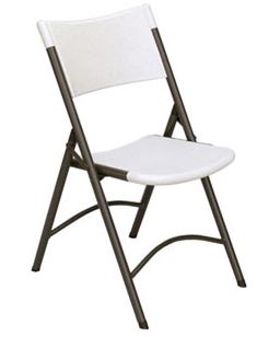 Correll RC400 Light Duty Blow-Molded Folding Chairs - Pack of 4