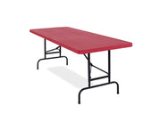 National Public Seating BTA-3072 Adjustable Blow Molded Rectangle Folding Table 30 x 72 - Quick Ship