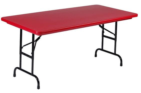 Correll R3072-25 Heavy Duty Fixed Height Blow-Molded Folding Table 30 x 72