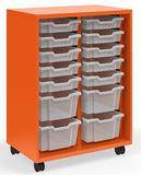 "KI RKT301841OP/36T.4CW Ruckus Mobile Two Column Open Storage with 14 Totes 41""H - Free Shipping"