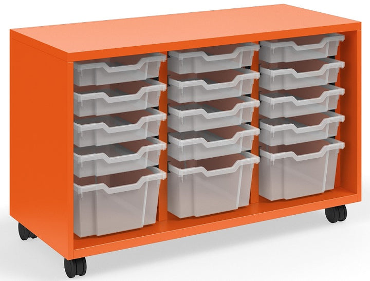 "KI RKT441828OP/36T.4CW Ruckus Mobile Three Column Open Storage with 15 Totes 28""H - Free Shipping"