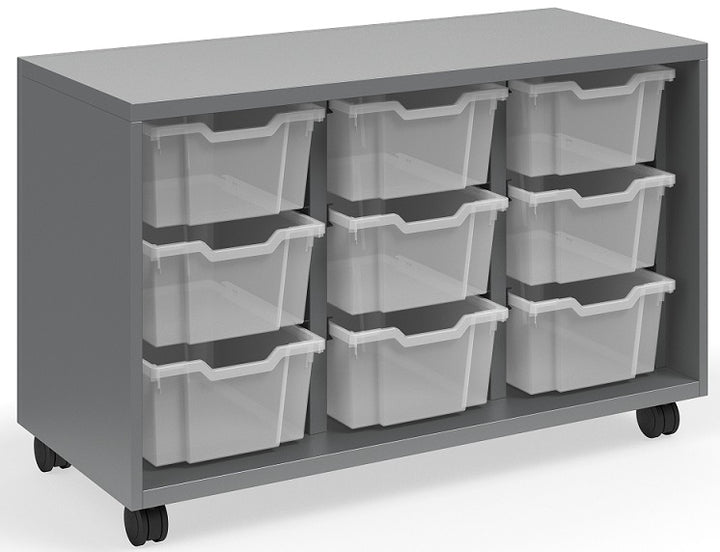 "KI RKT441828OP/6T.4CW Ruckus Mobile Three Column Open Storage with 9 Totes 28""H - Free Shipping"