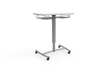 RUW20E.BR Ruckus Mobile Lectern with Hard Floor Casters and Book Rack