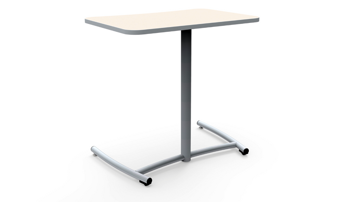 "KI RU5207 Ruckus Fixed Height Mobile Desk with Plastic Glides on Back Legs 26""H"