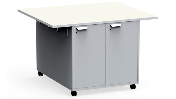 "KI RKW364836DR Ruckus Mobile Double Sided Worktable with Locking Doors 36""H - Free Shipping"